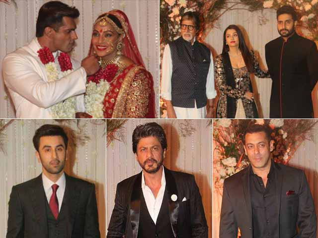 Video : All At Once: Big B, Aishwarya, SRK, Salman At Bipasha-Karan's Wedding