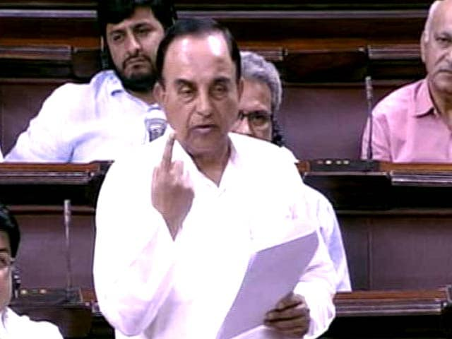 Video : Uproar In Rajya Sabha After Subramanian Swamy's 'Super PM' Remark