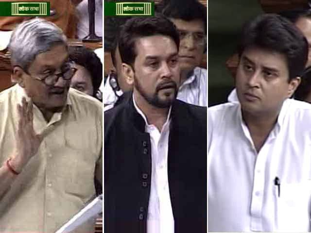 Video : Agusta Fireworks In Parliament: Parrikar Leads BJP Charge In Lok Sabha