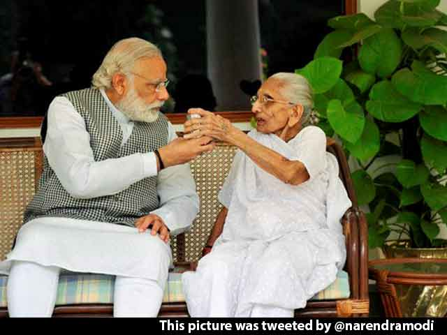 Video : PM Modi Posts Photos Of His Mother's First Visit To 7 RCR