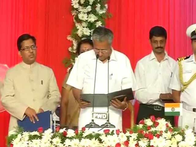 Video : Pinarayi Vijayan, Toddy Tapper's Son, Takes Oath As Kerala Chief Minister