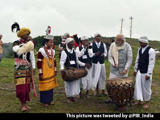 Video : In Shillong, PM Modi Visits Mawphlang Sacred Forests, Plays Drum