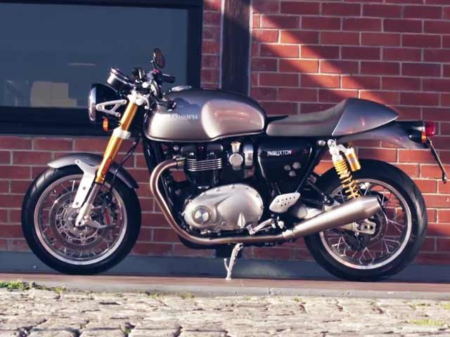 triumph thruxton r review video