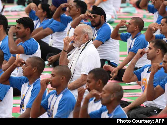 Video : PM Modi Leads Yoga Day Events, Says 'Yoga Not Religious Activity'