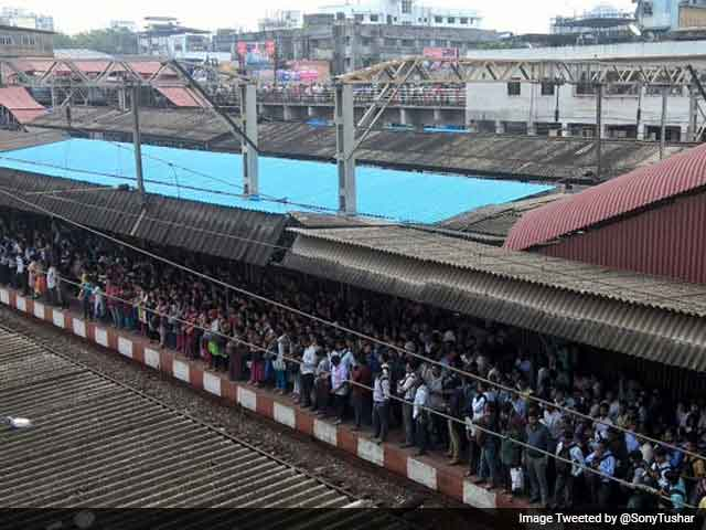 Video : Mumbai Trains Hit By Rain, Anger Pours On Twitter
