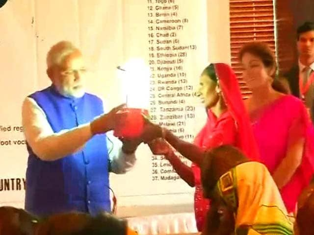 Video : In Tanzania, PM Modi Meets The 'Solar Mamas' Of Africa