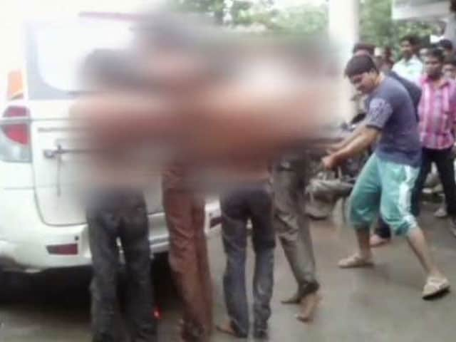 Video : 4 Stripped, Tied To Car, Beaten In Gujarat By Alleged Cow Vigilantes
