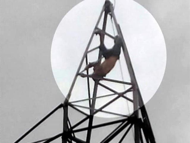 Video : Gabbar Singh, Very Drunk, Spent 4 Hours At Top Of This Tower