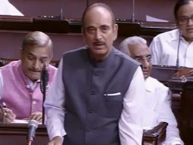 Video : 'We Haven't Learnt Our Lesson In Kashmir,' Says Congress' Ghulam Nabi Azad