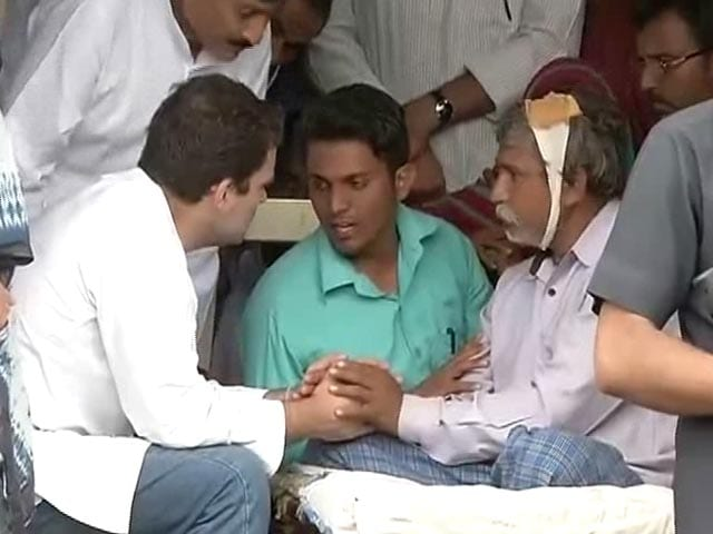 Video : Rahul Gandhi Reaches Out To Family Of Dalit Thrashed In Gujarat
