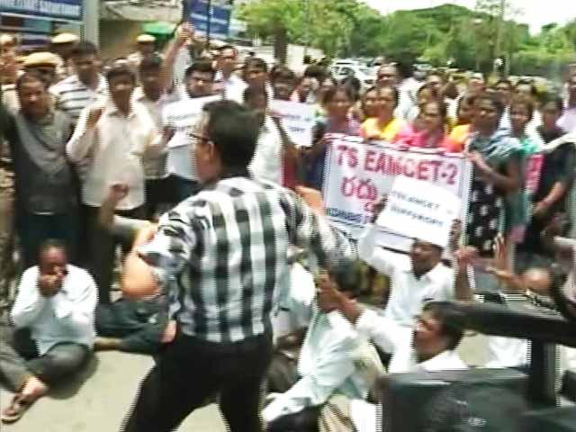 Video : Telangana Students Flown Out, Given Exam Papers In Hotel Rooms: Police
