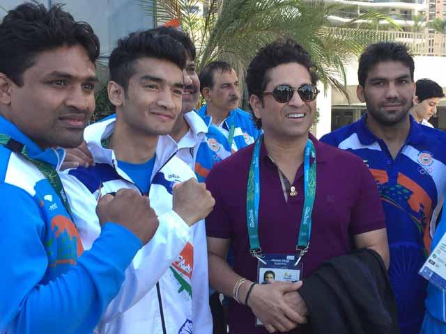 Video : Sachin Tendulkar Buoys Indian Athletes at Rio 2016 Games Village