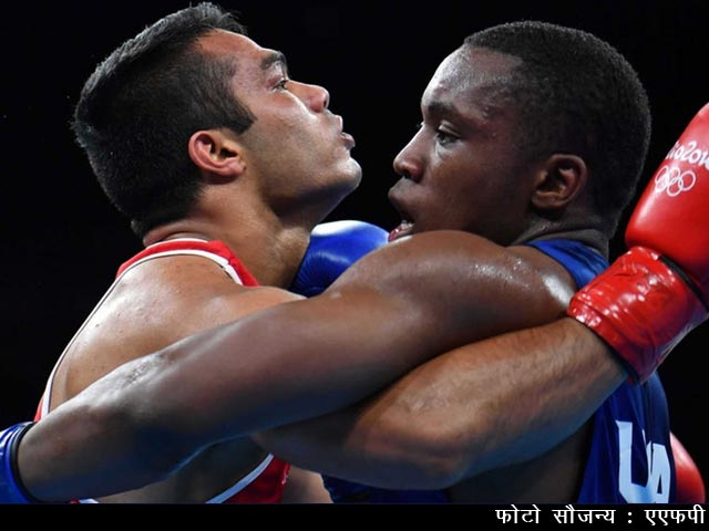 Videos : रियो ओलिम्पिक 2016 : भारतीय बॉक्सर विकास कृष्ण पहुंचे प्री-क्वार्टरफाइनल में