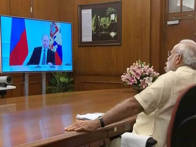 Video : PM Narendra Modi, Vladimir Putin Interact Via Video-Con For Kudankulam Event