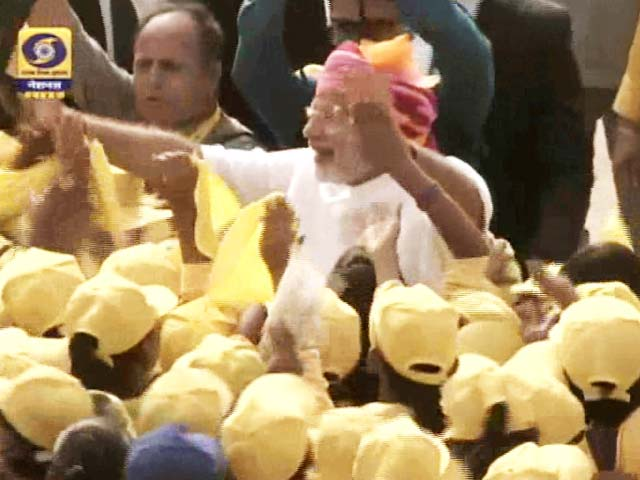 Video : At Red Fort, Young India Swept PM Modi Off his Feet. Almost.
