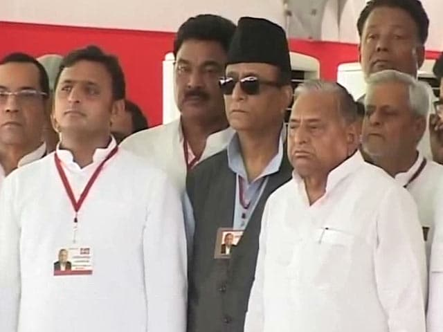 Video : Chief Minister Akhilesh Yadav Trolled Today. By Father Mulayam.