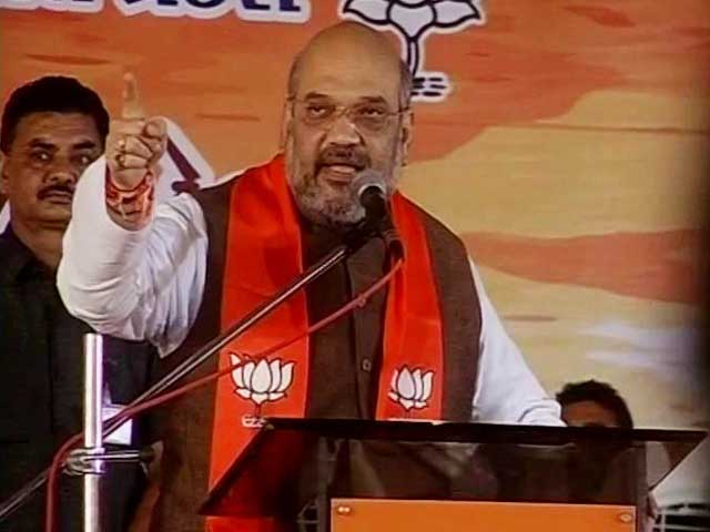 Video : Amit Shah Back On Home Turf, Delivers Pep-Talk To BJP Workers In Gujarat