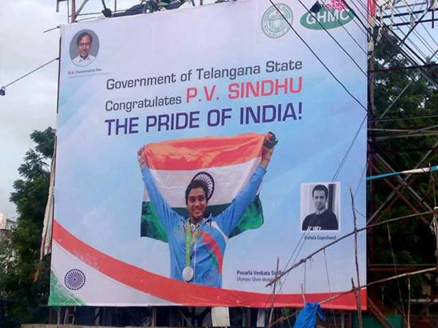 Video : For PV Sindhu's Homecoming Today, 2 States Prep Grand Welcome