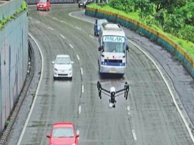 Video : Drones Monitor Traffic On Mumbai-Pune Expressway Called A 'Death Trap'