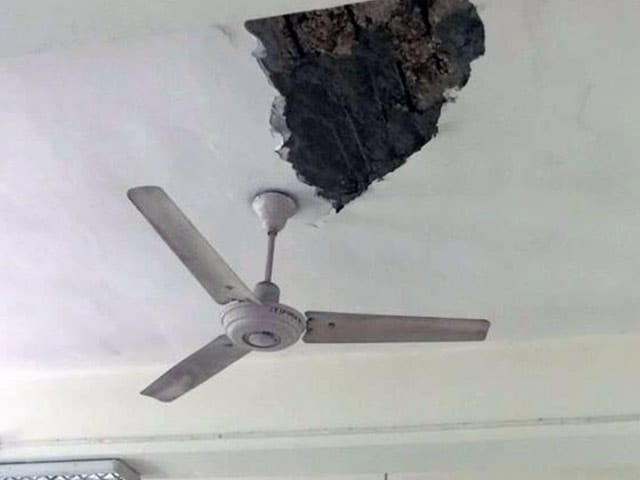 Video : Ceiling Crashed Down at a Delhi College As Students Sat In Class
