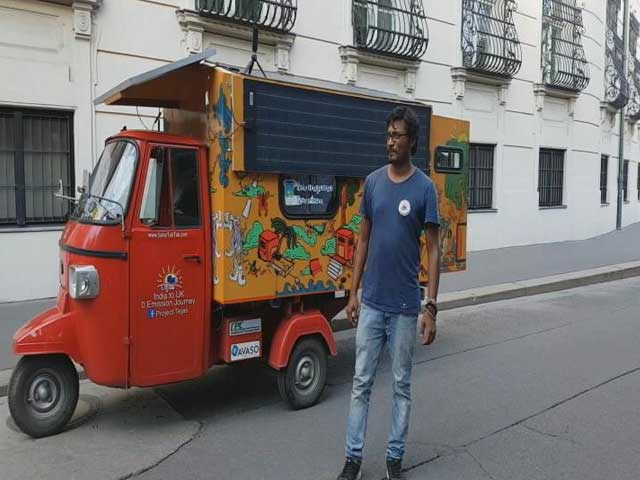 Video : Indian-Origin Engineer's Solar 'Tuk-Tuk' Turns Heads At UK Exhibition