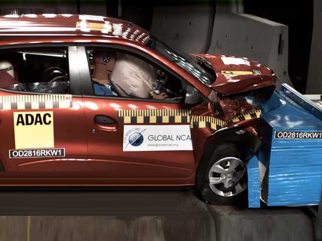 Video : Global NCAP Crash Test: Renault Kwid (May & Sept 2016)