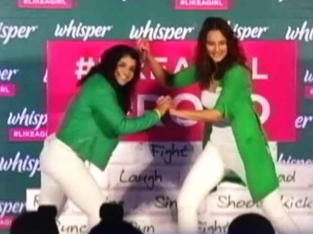 Video : What Sonakshi Sinha And Sakshi Malik Have In Common