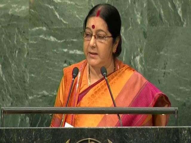 Video : Watch: Sushma Swaraj's Takedown Of Pak At UN