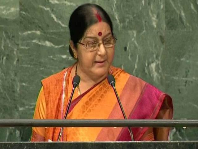 Video : 'Abandon This Dream': Sushma Swaraj Warns Pak About Kashmir At UN