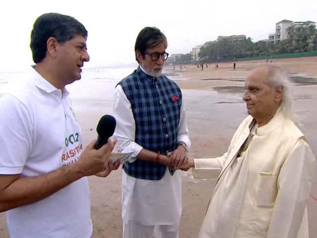 Videos : अमिताभ ने छुए पं. जसराज के पांव, पंडित जी बोले, आप कमाल गाते हैं