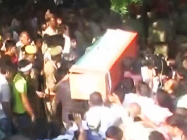 Videos : बारामूला आतंकी हमले के शहीद नितिन को आखिरी विदाई