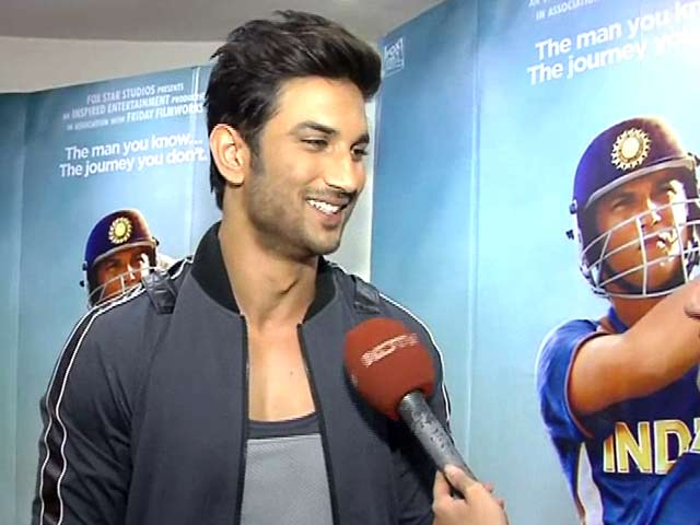 Video : Sushant's <i>MS Dhoni</i> Hits A Six, Says Teamwork Has Paid Off