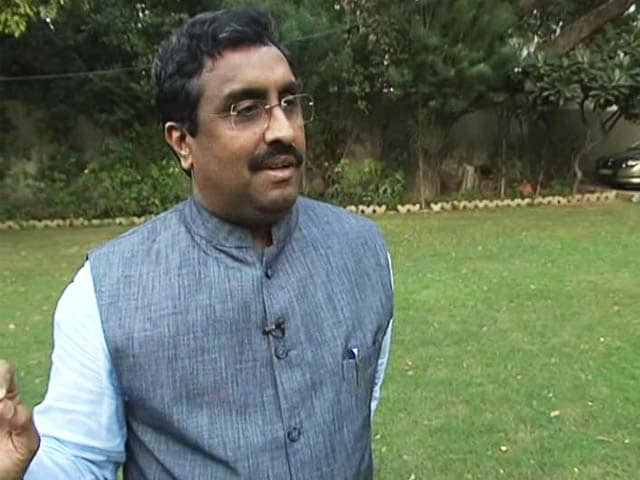 Video : Violence Shouldn't Be Used To Settle Scores: Ram Madhav On MNS Attacking Films With Pak Actors