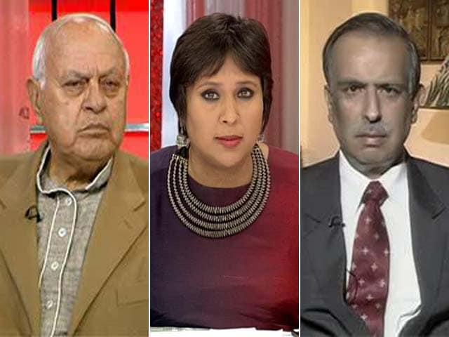 Video : 'Kashmir Ship Sinking, PM Must Act Now': Farooq Abdullah vs PDP's Amitabh Mattoo