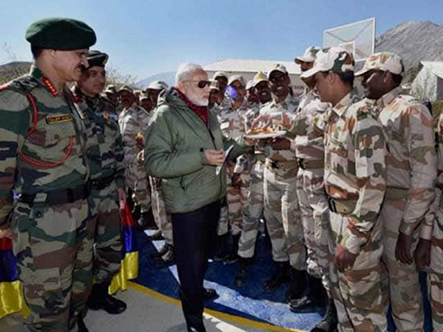 Video : 'We Sleep Because You Stand Guard': PM Modi Spends Diwali With Soldiers