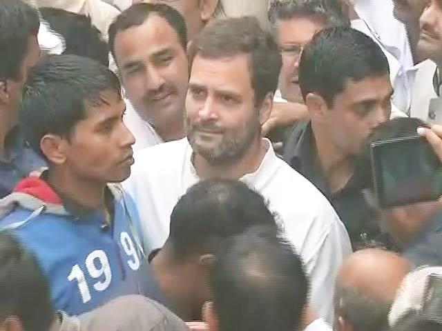 Video : पूर्व सैनिक रामकिशन के अंतिम संस्कार में शामिल होने पहुंचे राहुल गांधी