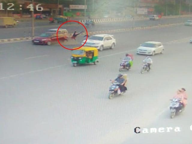 Video : On Camera, Speeding Car Rams 63-year-old Woman, Granddaughter In Ahmedabad