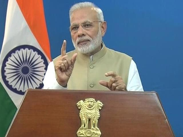 Video : Watch: The Moment PM Modi Announced 500 and 1,000 Rupee Notes Are Illegal