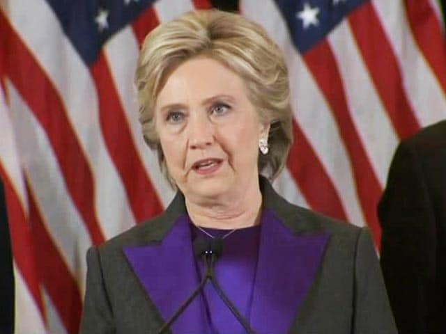 Video : Hope Trump Will Be A Successful President: Hillary Clinton In Concession Speech