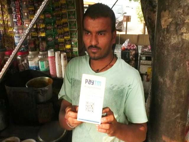 Video : With Rs 500, 1000 Notes Banned, PayTM At Tea Stalls