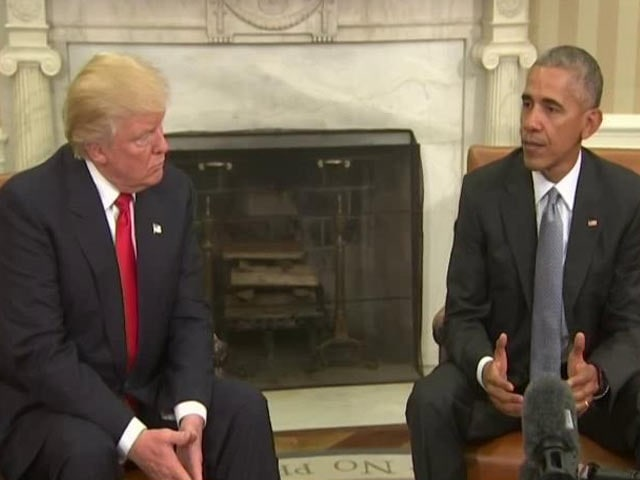 Video : Trump Meets Obama At The White House To Discuss Transition Of Power