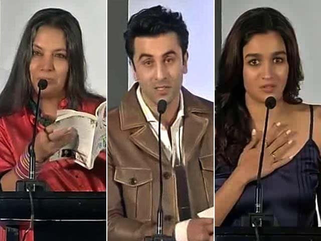 Video : Alia, Ranbir, Shabana Read From Twinkle Khanna's New Book