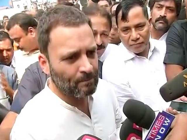 Videos : नोट लेने के लिए एटीएम के सामने फिर कतार में लगे राहुल