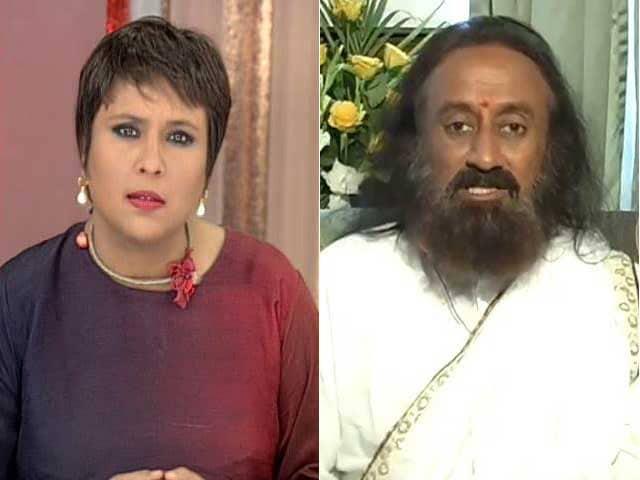 Video : New Kashmir Initiative - What Sri Sri Said To Burhan Wani's Father
