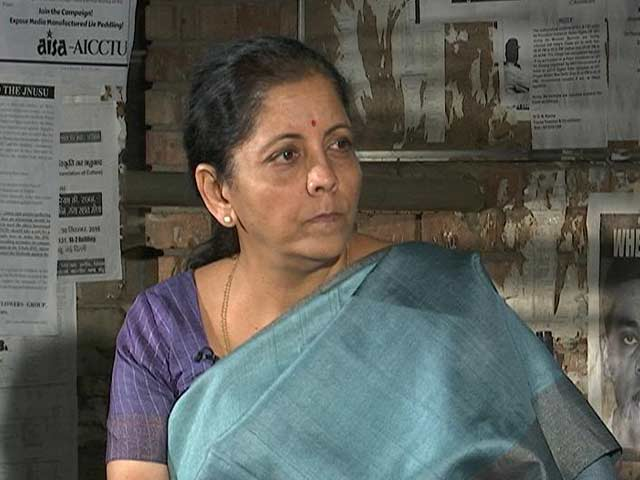 Video : Survey Or Not, People Are Happy: Nirmala Sitharaman Defends Notes Ban