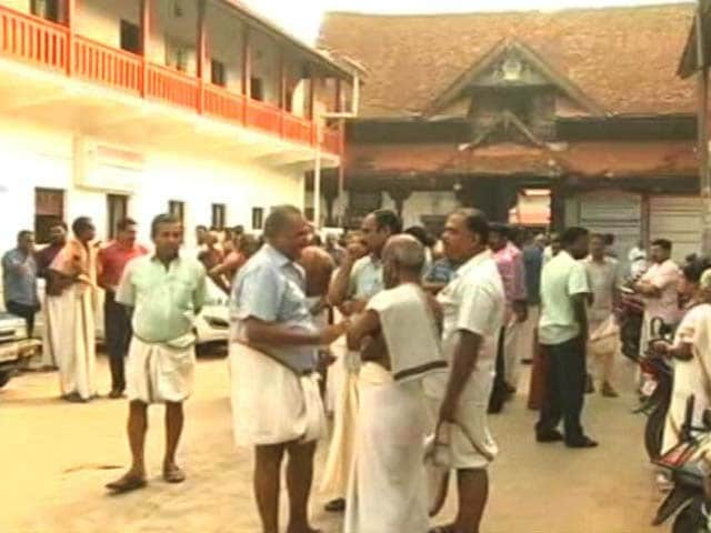 Video : Protests At Iconic Kerala Temple As Women In Salwars Enter For First Time