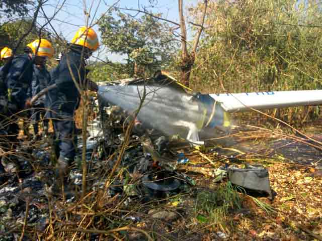 Video : 1 Dead, 3 Injured In Helicopter Crash In Aarey Colony Area In Mumbai