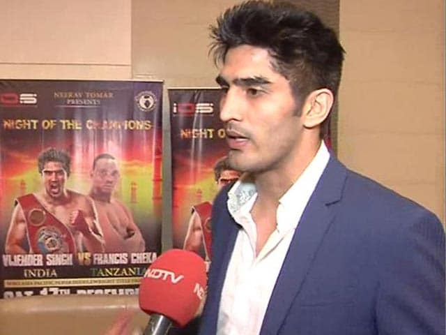 I will Give my 100 Per Cent to Defend Title vs Cheka: Vijender