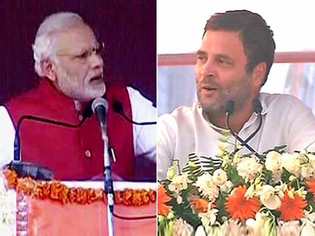 Video : PM Modi vs Rahul Gandhi As Notes Ban Battle Moves To UP Which Votes Soon