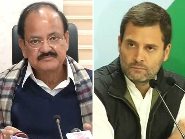 Video : In Notes Ban Fight, Rahul Gandhi's 5 Questions For PM Modi Provoke 5 From BJP